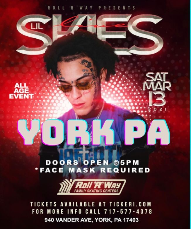 Flyer for LIL SKIES IN YORK PA