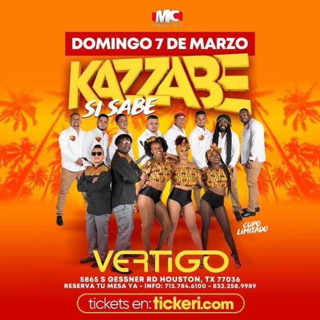 Flyer for Kazzabe Si Sabe en Vivo en Houston!