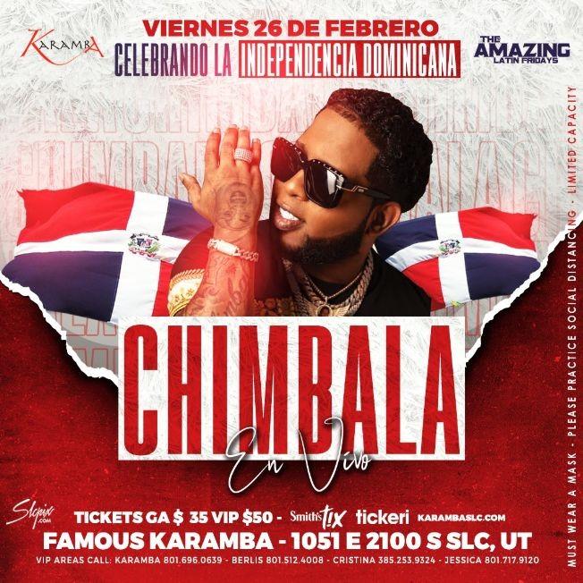 Flyer for Chimbala en SLC