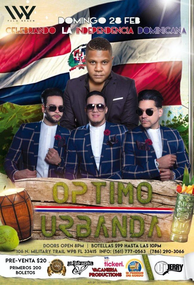 Flyer for Optimo y Urbanda en Concierto