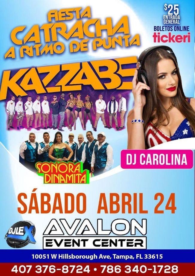 Flyer for Fiesta Catracha En Tampa ( Kazzabe/Dj Carolina/ Sonora Dinamita )