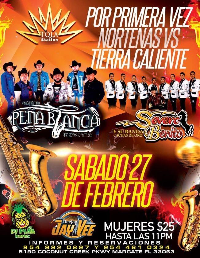 Flyer for Conjunto Peña Blanca y Severo Benito en Vivo!