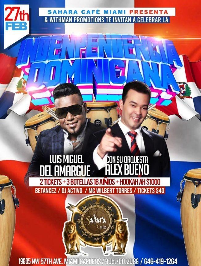 Flyer for Luis Miguel del Amargue y Alex Bueno en Concierto!