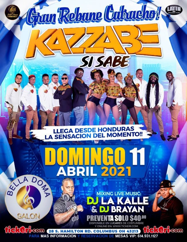 Flyer for KAZZABE EN CONCIERTO TOUR SEI SEI BEI 2021