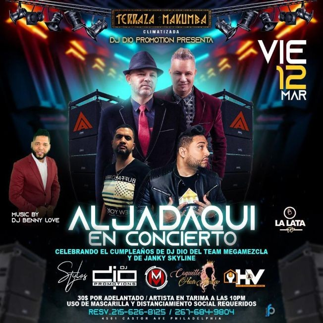 Flyer for Aljadaqui en Concierto!