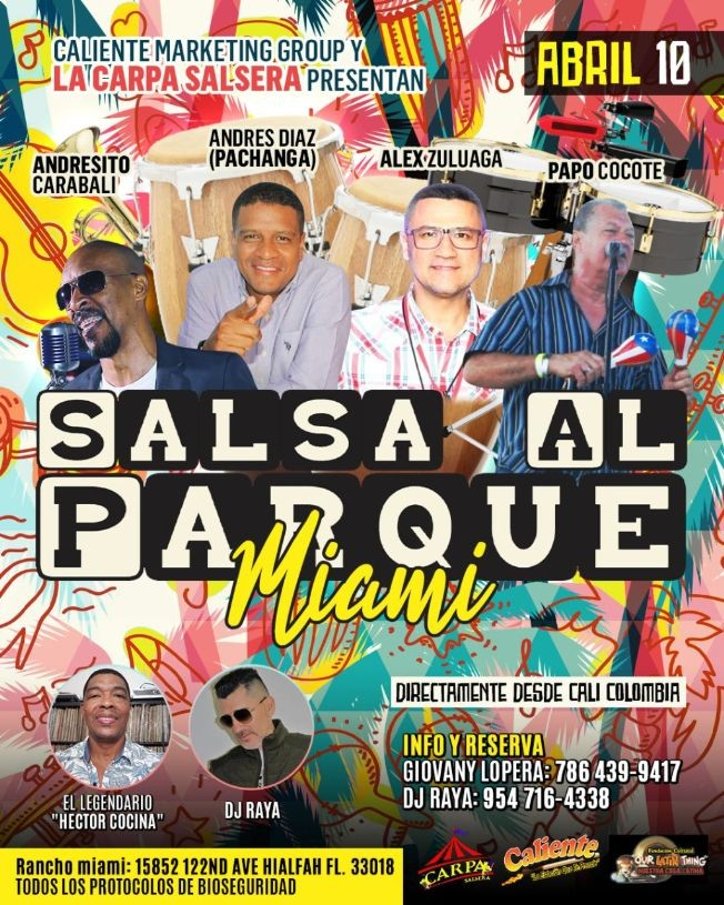 Flyer for SALSA AL PARQUE MIAMI
