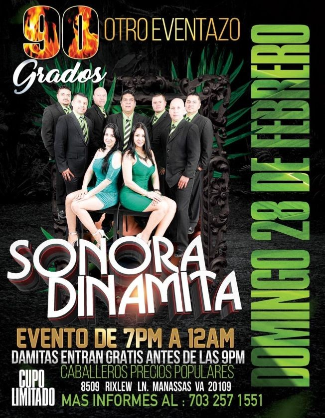 Flyer for Otro Eventazo con La Sonora Dinamita en Vivo!