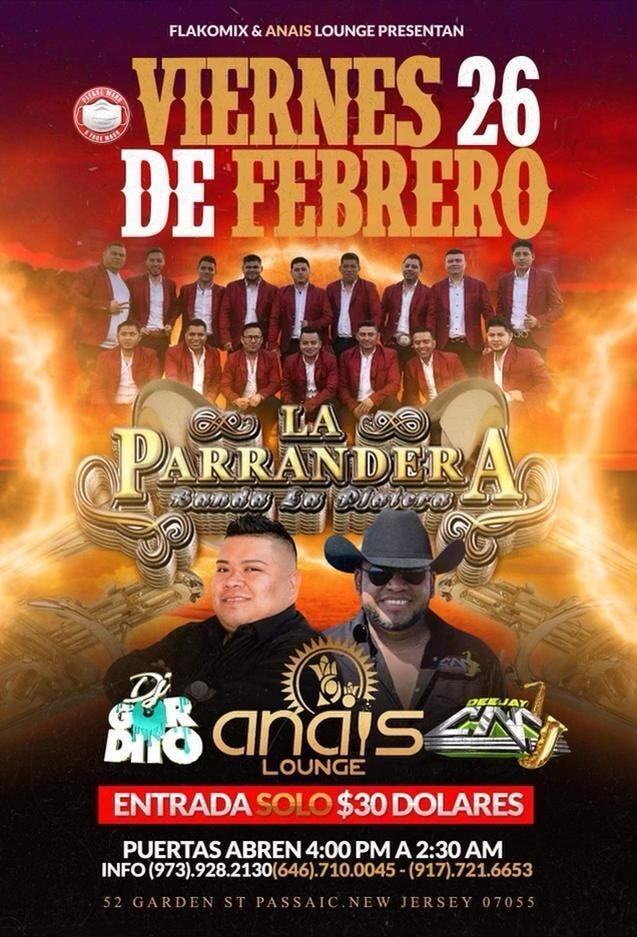 Flyer for La Parrandera Banda La Platera en Vivo!
