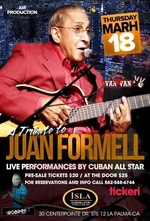 Flyer for A Big Tribute to Juan Formell y Los van Van