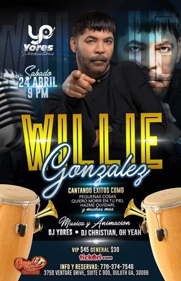 Flyer for Willie Gonzalez en Atlanta