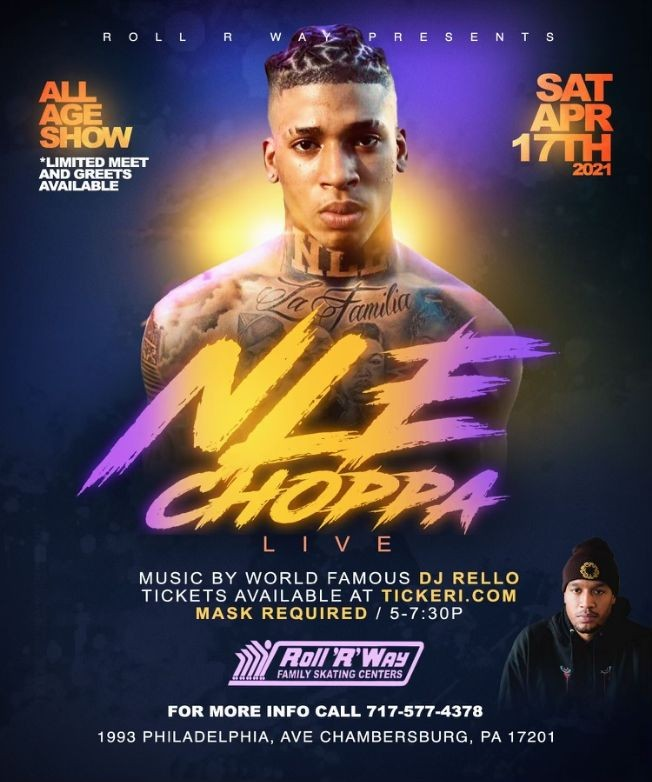 Flyer for NLE Choppa Live!