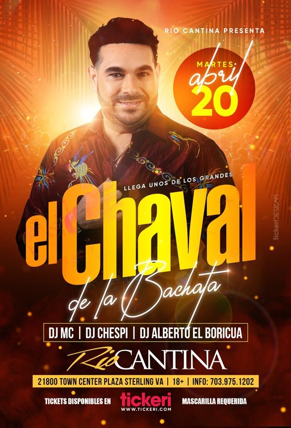 Flyer for El Chaval de la Bachata en Vivo!