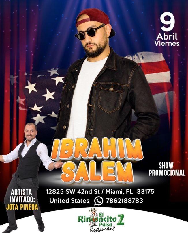 Flyer for Ibrahim Salem y Jota Pineda en Vivo!