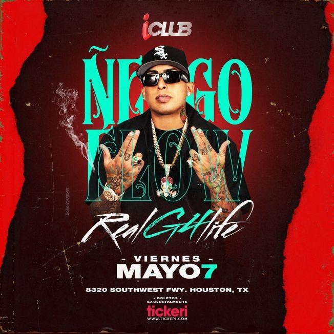 Flyer for Ñengo Flow en Vivo! Real G4 Life