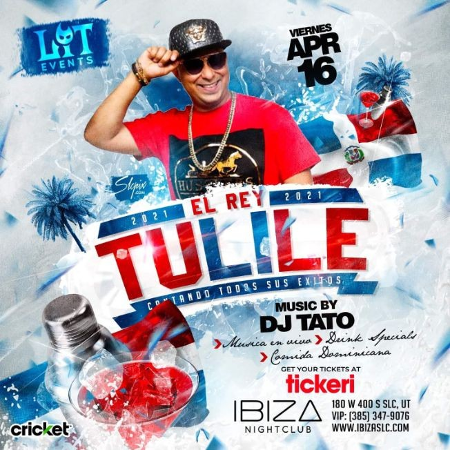 Flyer for Dominican Party 2021 con El Rey Tulile en Vivo!