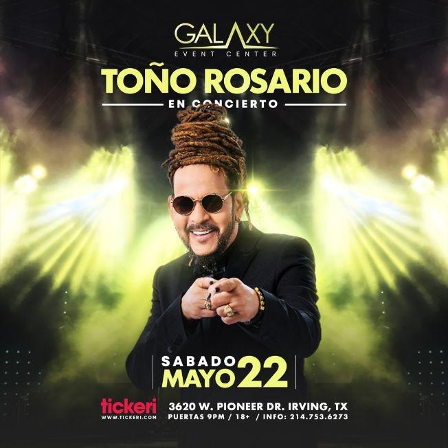 Flyer for Toño Rosario en Concierto!
