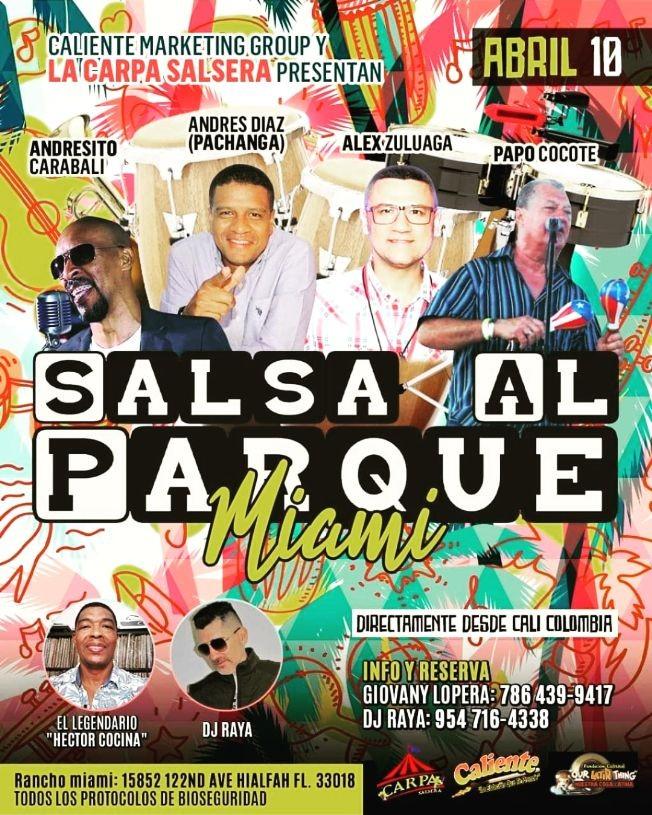 Flyer for Salsa Al Parque Miami 2021