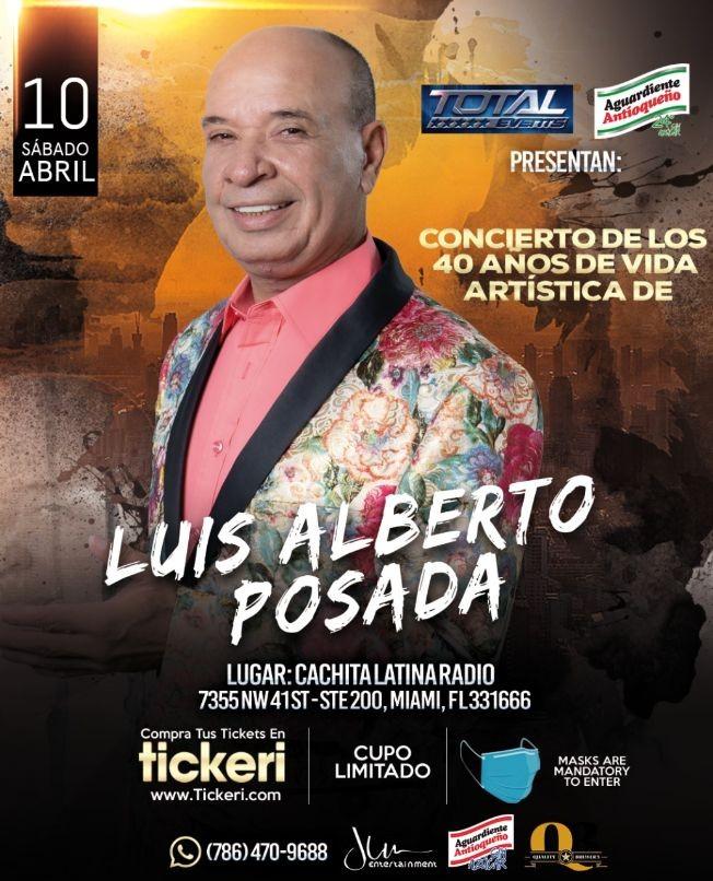 Flyer for Luis Alberto Posada en Miami