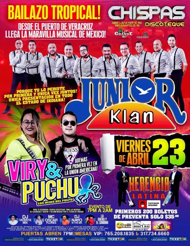 Flyer for Junior Klan y Viry & Puchu en Vivo!