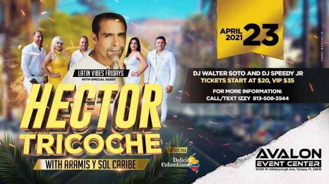 Flyer for Hector Tricoche w/ Aramis Y Sol Caribe