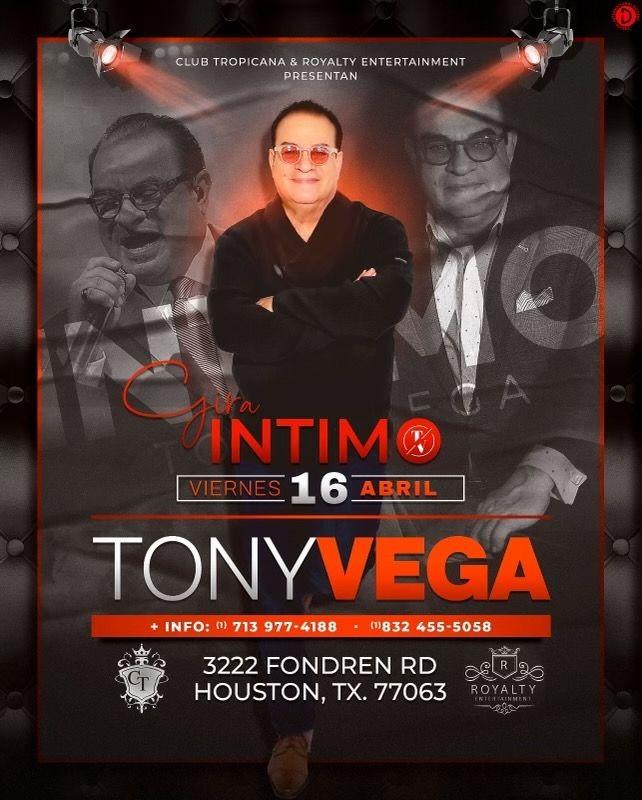 Flyer for TONY VEGA EN CONCIERTO