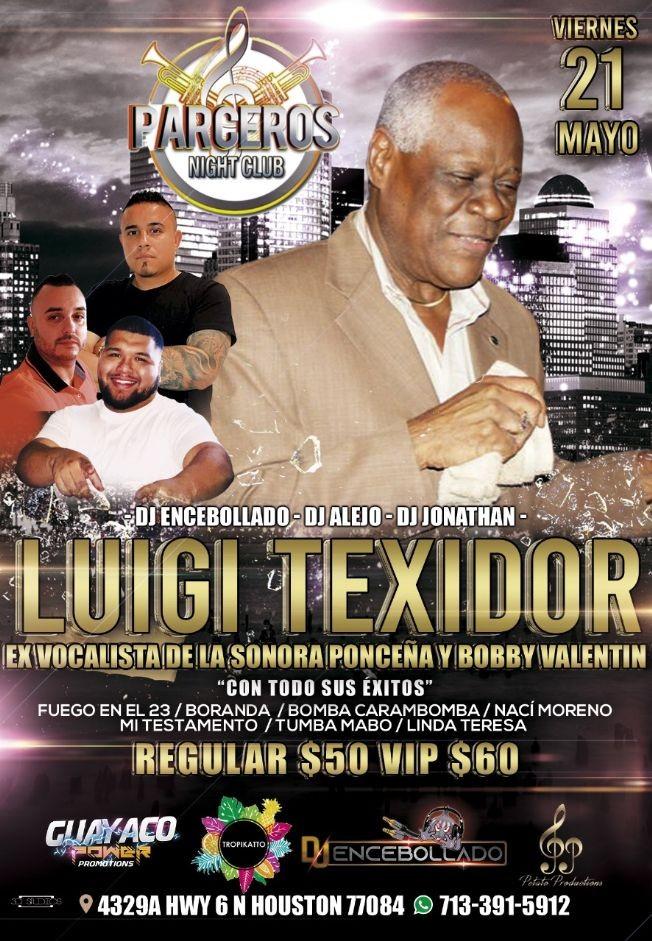 Flyer for Luigi Texidor