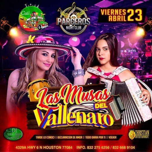 Flyer for Las Musas del Vallenato en Concierto!