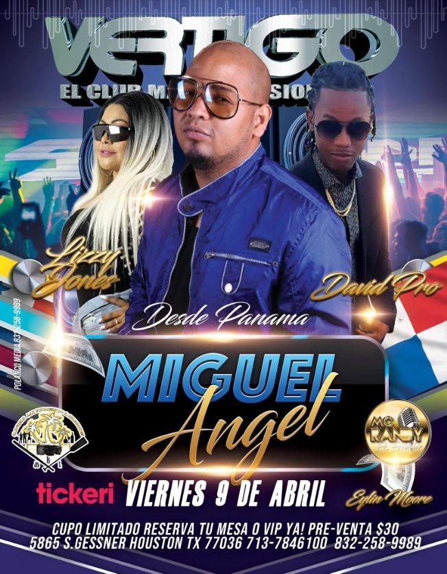 Flyer for Desde Panama: Miguel Angel, junto a David Pro y Lizzy Jones en Vivo!