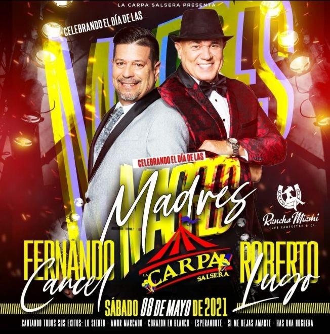 Flyer for Celebrando el dia de las Madres junto a Roberto Lugo y Fernando Cancel en Vivo!