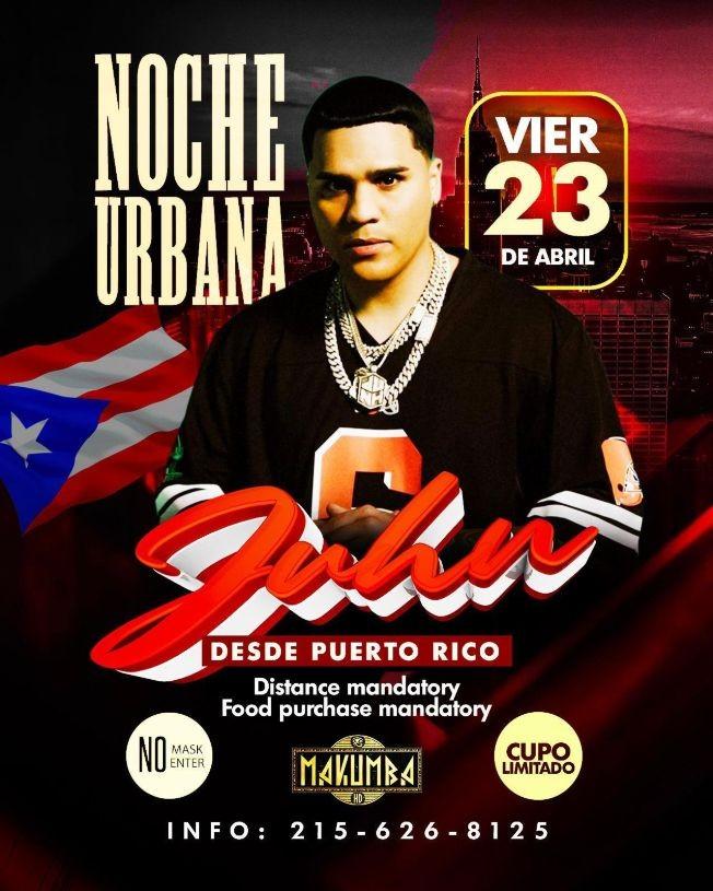 Flyer for Desde Puerto Rico: Juhn en Concierto!