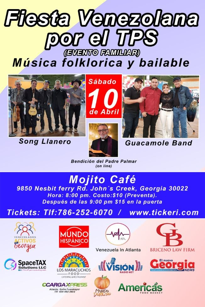 Flyer for Fiesta venezolana por el TPS