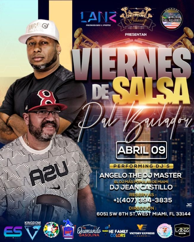 Flyer for Viernes de Salsa para el Bailador