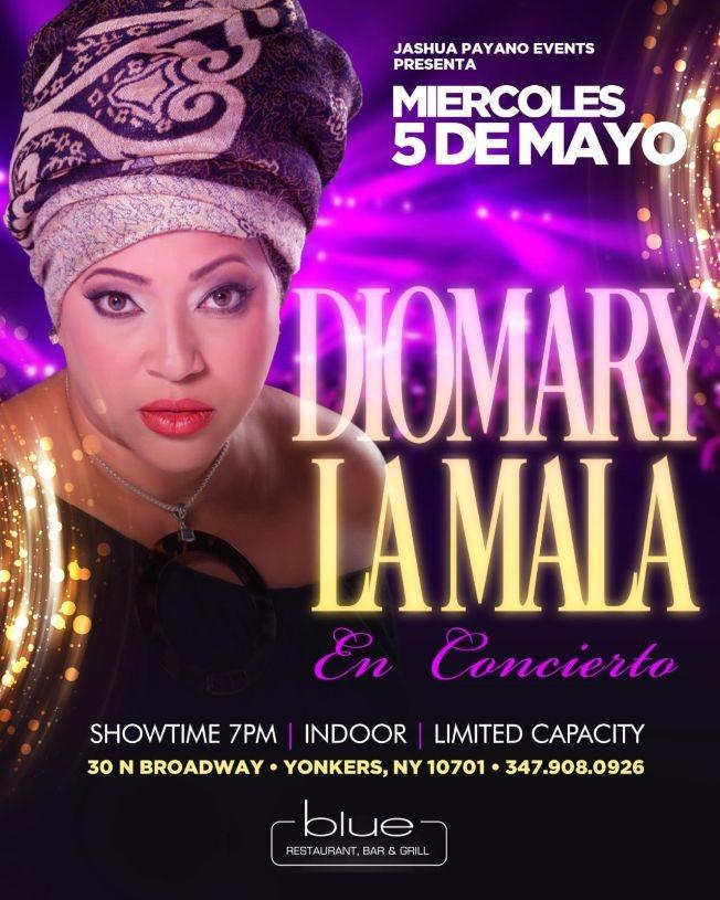 Flyer for DIOMARY LA MALA EN CONCIERTO