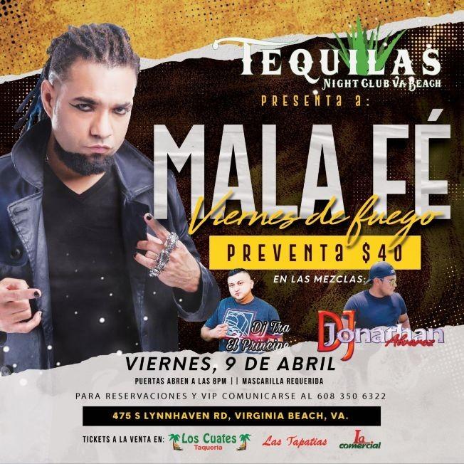 Flyer for Mala Fe en Concierto! Viernes de Fuego