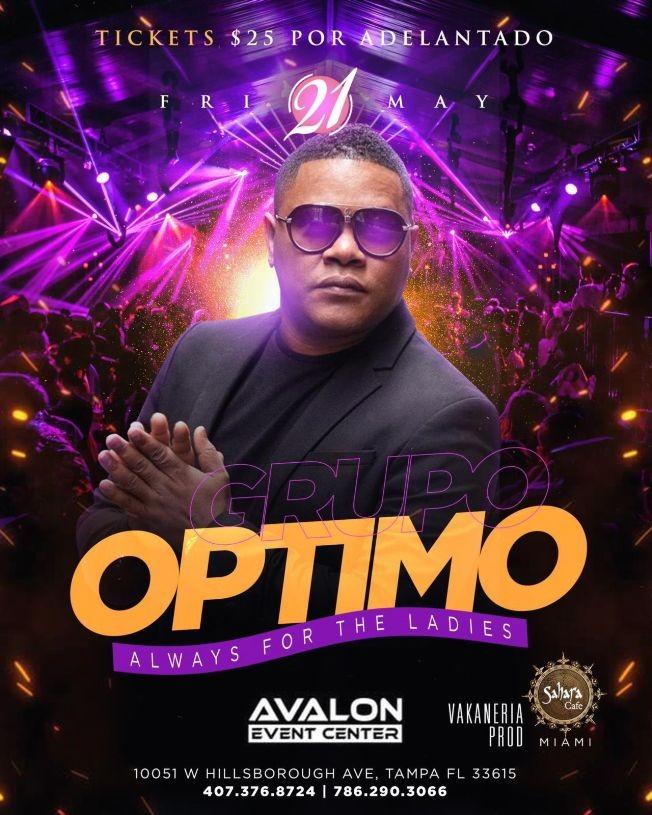 Flyer for Grupo Optimo en Vivo! Always for the Ladies
