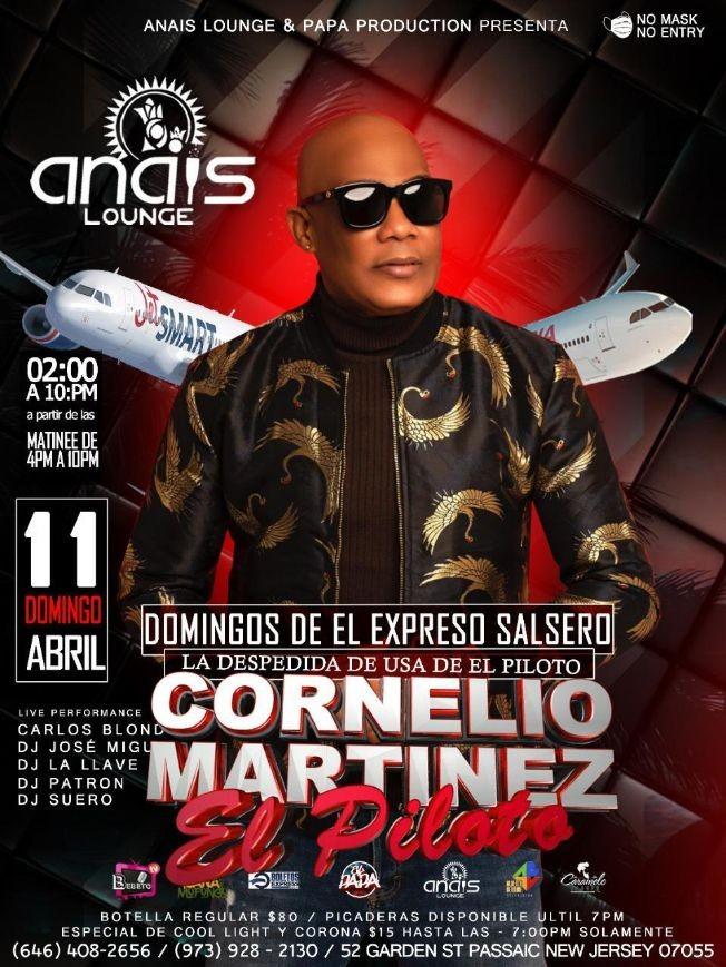 Flyer for Cornelio Martinez El Piloto en Vivo!
