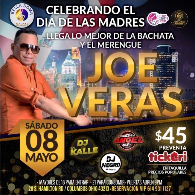 Flyer for Celebrando el Dia de las Madres: Joe Veras en Concierto!