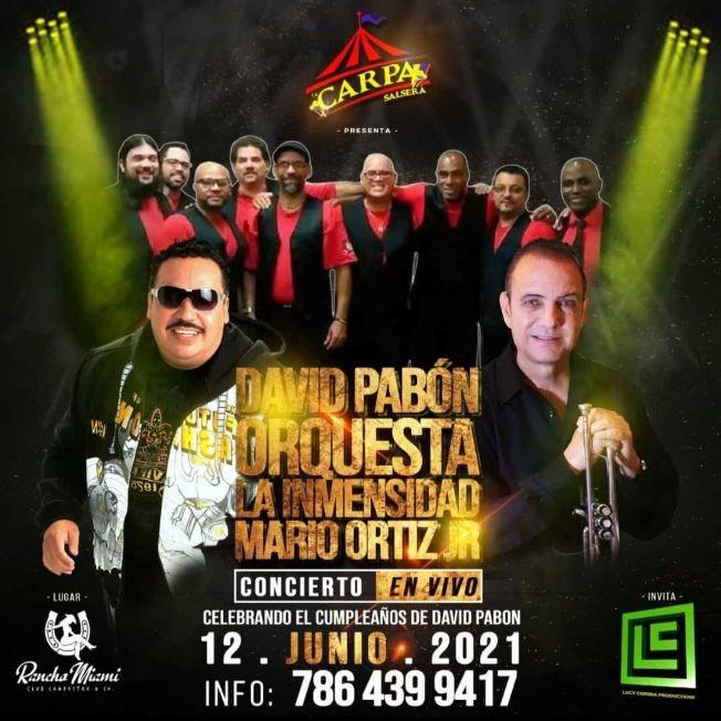 Flyer for Celebrando el Dia del Padre junto a David Pabón, Orquesta La Inmensidad y Mario Ortiz Jr.