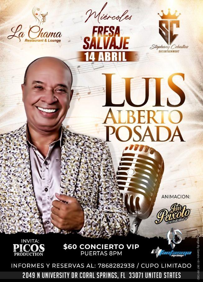 Flyer for Luis Alberto Posada en Vivo!