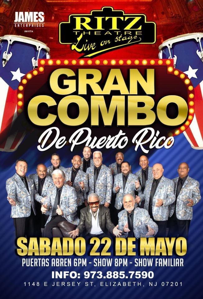Flyer for El Gran Combo de Puerto Rico en Vivo!