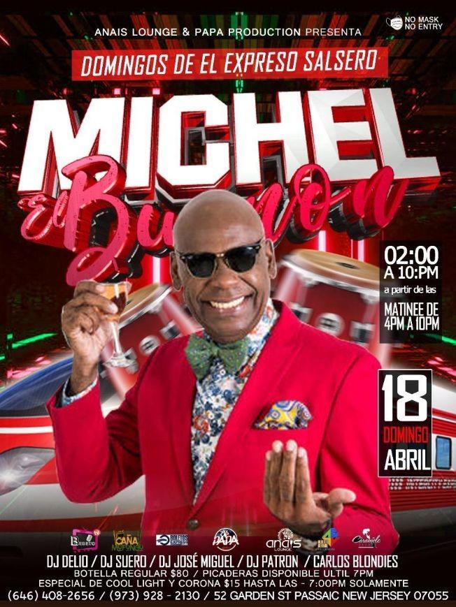 Flyer for Michel El Buenon en Vivo!
