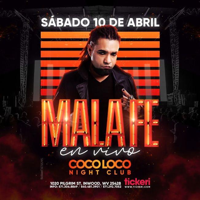 Flyer for Mala Fe en Vivo!