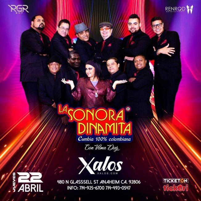 Flyer for La Sonora Dinamita con Vilma Diaz en Vivo!