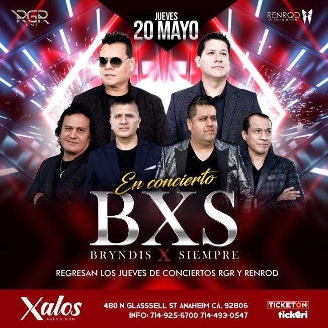 Flyer for BXS Bryndis X Siempre en Concierto!