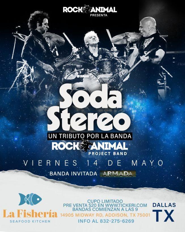 Flyer for Tributo a Soda Stereo-Dallas, Texas