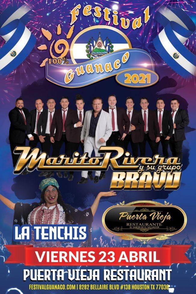 Flyer for Festival Guanaco 2021 con Marito Rivera y Su Grupo Bravo y La Tenchis en Vivo!