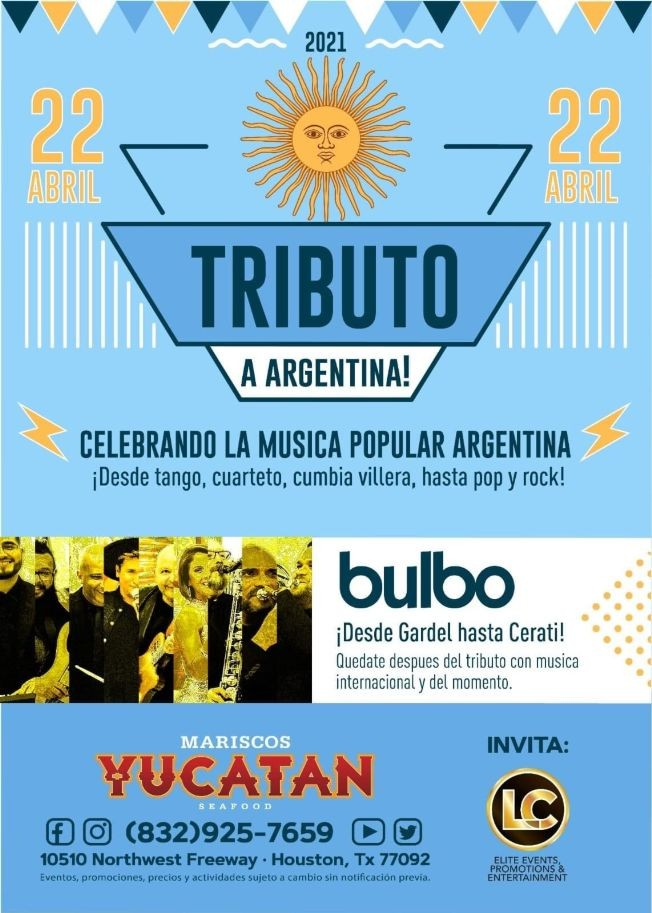 Flyer for BULBO TRIBUTO A ARGENTINA