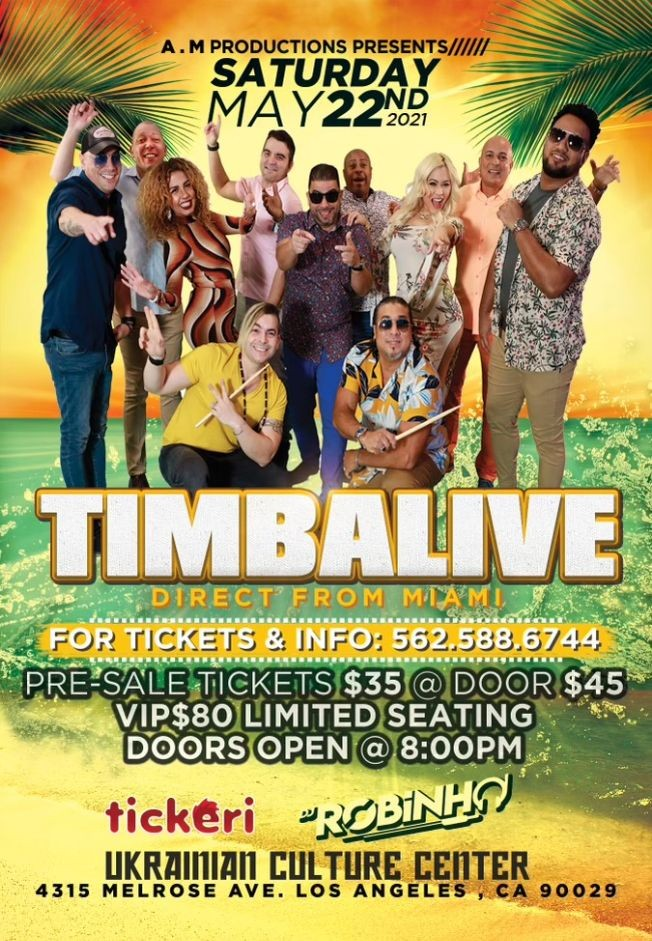 Flyer for TIMBALIVE DIRECT FROM MIAMI