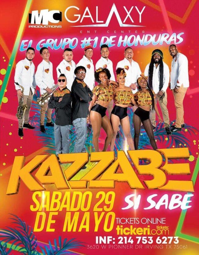 Flyer for Kazzabe En Vivo [Irving/Dallas, Texas]