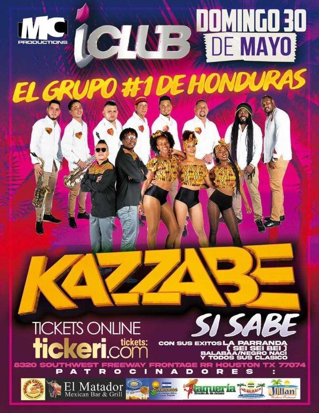 Flyer for Kazzabe En Vivo [IClub, Houston]